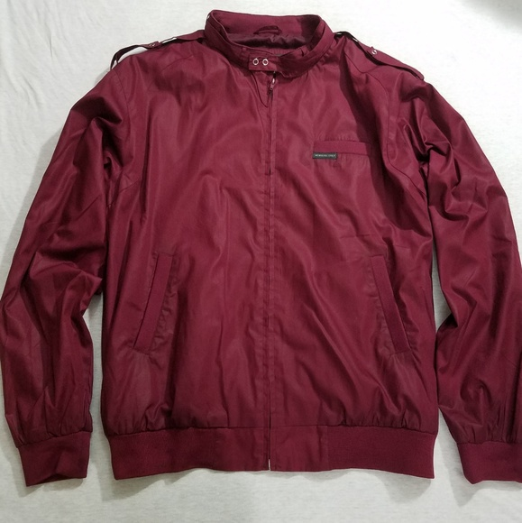 Members Only Jackets Coats Like New Jacket Burgundy Red Xxl Tall